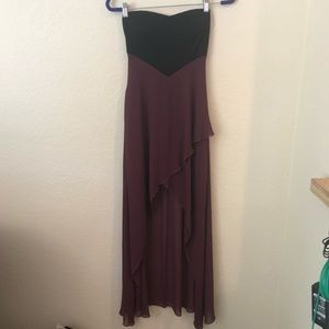 Windsor NWT maroon black high low dress small